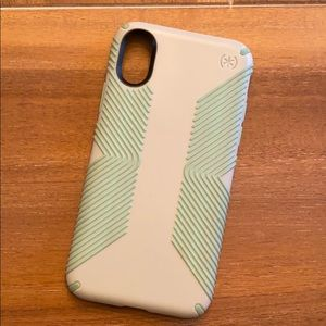 Speck IPhone X phone case in mint & light grey